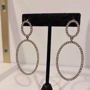 Circular style pave earrings